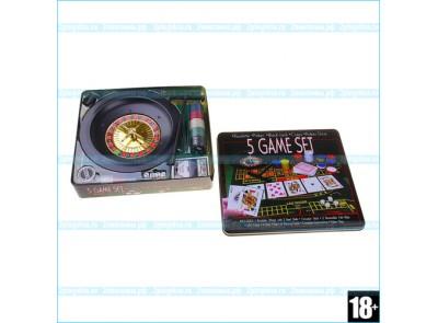 Набор 5 в 1 - рулетка / покер